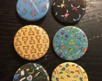 The Legend of Zelda Pin Pack - Nintendo, Ocarina of Time, Link, Video Games