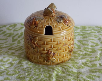 A Charming Honey Pot, made by Secla Portugal. Honey bee design.