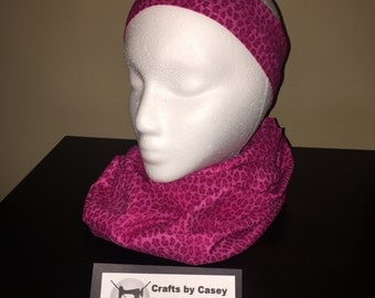 Matching scarf and headband set