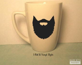 Coffee cup. Beard. Beard Gifts. Gifts for men coffee cup- man coffee cup- man gift- beard- beard cup- beard gifts- his gifts- rock the beard
