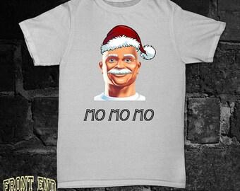 Funny Christmas TShirt Ho Ho H0 Movember MO MO MO t shirt Tees X mas T-shirt Christmas Tumblr Funny Santa Santa's Beard White Beard FEA003