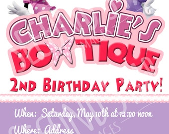 Minnie's Bow-tique Party Invitations