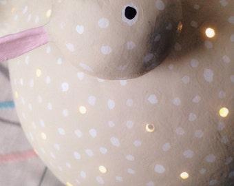 Chicken lamp beige