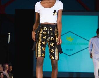 Ankara women knee length shorts