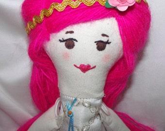 Louna, cute doll rag doll handmade 62 CM