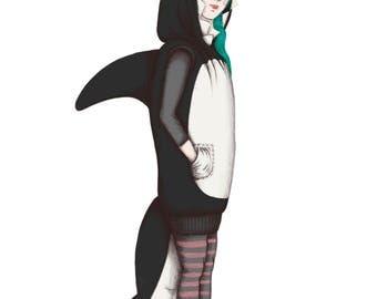 Orca Costume - Giclée (fine art) print
