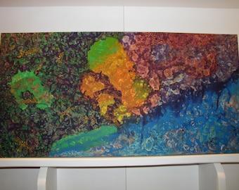 Rainbow Abstract - Acrylic on canvas
