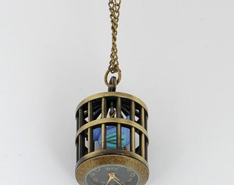 Bird Cage Pendant Watch