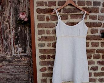 Linen nightgown-3 colors-linen night dress-linen bed gown-linen slip dress-handmade linen nightdress-flax nightie #Philomela#