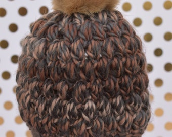 The Flurry Hat: Ready-to-ship // puff stitch beanie