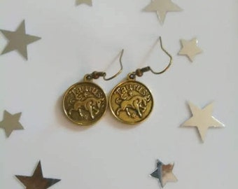 Zodiac Sign Taurus Earrings