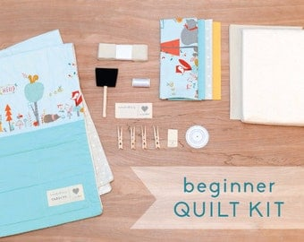 Animal Party - DIY Baby Quilt Kit for Beginner Sewists and Quilters