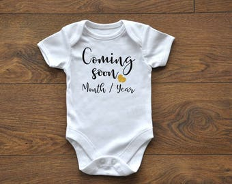 INTRO Sale, Coming Soon, Pregnancy Reveal Ideas, Pregnancy Announcement, Birth Announcement, New Baby, Daddy, Custom Onesie, Customizable