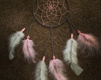 Gray/Pink 5 inch Dreamcatcher