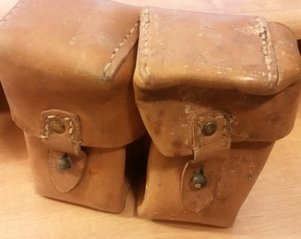 2 Pocket Leather Pouch