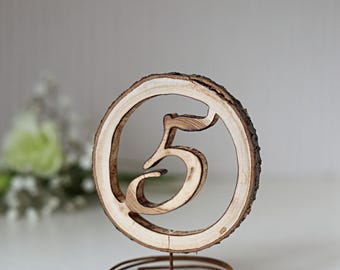 Wedding table numbers, rustic table numbers, woodland wedding, rustic wedding decor, table number holders, table numbers, chic table decor