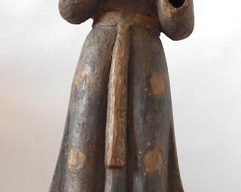 Beautiful 19th Century Philippine Wooden Statue San Antonio de Padua
