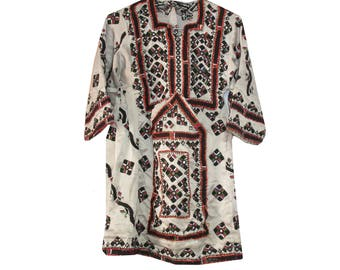 Vintage Baluchi Dress Tunic from Balochistan Boho Kimono Tunic  Afgan Frock Dress Mirror Work Baluchi Gypsy Top