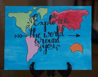 Explore The World Around You Canvas Painting