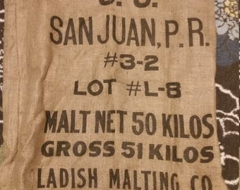 Burlap Feed Bag