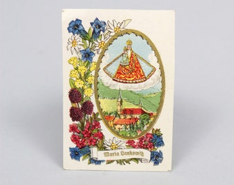 Antique Madonna Prayer Card - Christian Cards - Vintage Prayer Cards - Catholic Cards - Religious Art - Mother of Christ - Catholic Gift