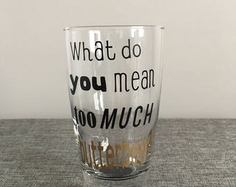 Personalized Butterbeer Glass