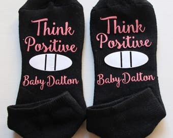 Think Positive Infertility Socks- IUI Clothing, IVF Clothing