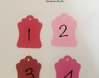 Tags / Favor Tags / Candy Bar Tags / Price Tags / Gift tags / Decorative tags / Wedding Tags / Labels /Red tags /Pink tags /Light pink tags
