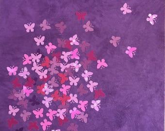 all purple    - collage on wallpaper - artwork