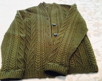 Irish Lamb's Wool Sweater - VIntage