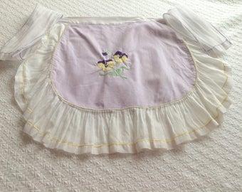 Vintage Purple Pansy Apron