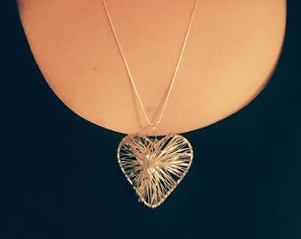 Limited Edition Statement Wire Heart Necklace