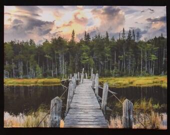 South Lake Bridge - Northville Placid Trail - Adirondacks - New York