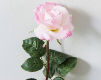 Pink Rose Stem (Real Feel)