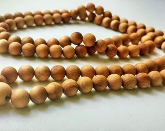 Soft wood: 108 wood mala for meditation (10 mm)