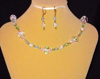 One of a kind Lampwork bead necklace