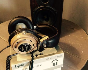 Terrific Hi-Fi Leather Stereo Headphone Lyric LM 5000 !