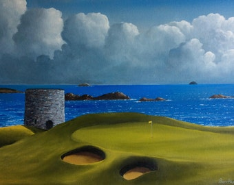 Irish Golfcourses Oil Paintings