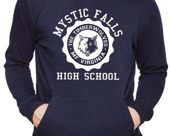 Vampire Diaries Jumper Mystic Falls High School College Hoodie