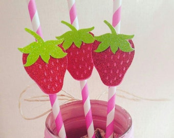 strawberry straws,strawberry birthday,berry sweet,summertime party