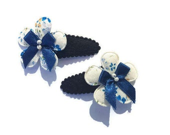 Bow flower Barrette (set)