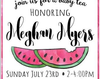 Watermelon - Baby Girl Shower Invite