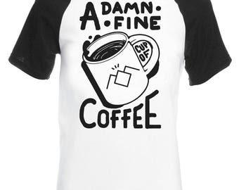 Vintage Style Twin Peaks T-Shirt, Damn Fine Coffee T-Shirt, Top, Tee, Shirt