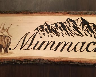Personalized Wood Burned signs