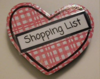Shopping List Heart Magnet