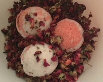 Vanilla Rose bath bombs