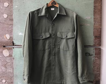 1970's X-Small Military Issue Utility Shirt
