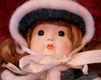 """Vintage Composition Porcelain 15"""" Girl Doll with Painted Features"""