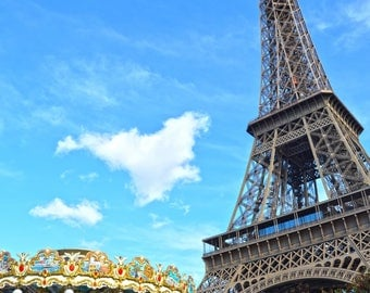 Paris Photography, Tour Eiffel, Eiffel Tower, Digital Print