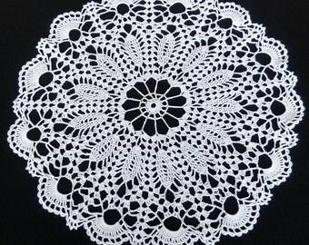 New white crochet doily